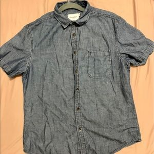 Goodfellow & Co short sleeve denim button up